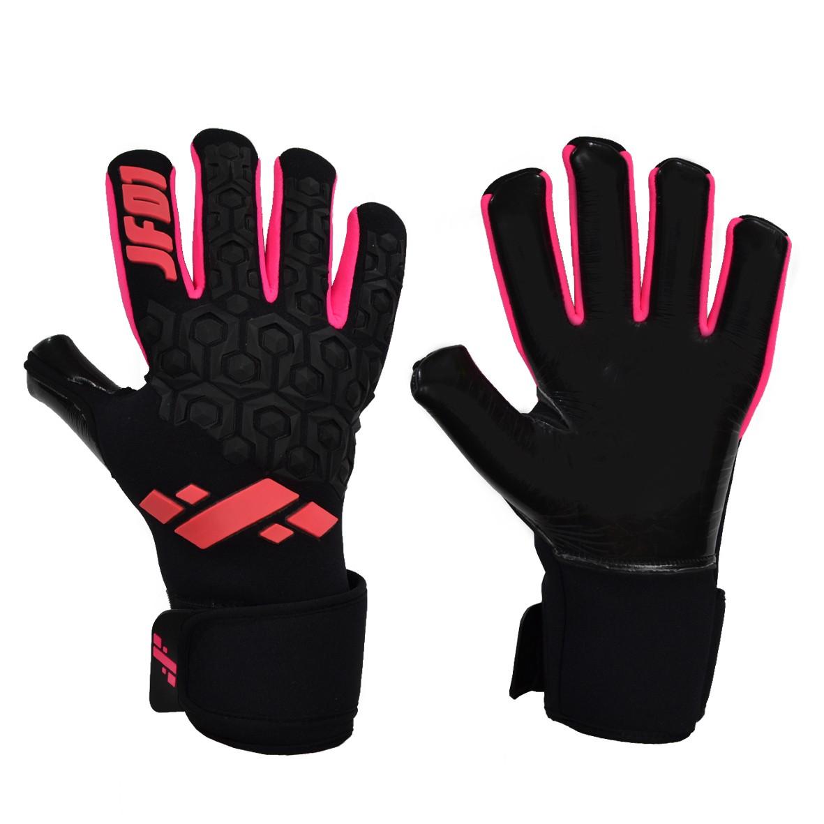 Luva de Goleiro Profissional JF01 Black Pink sem Finger